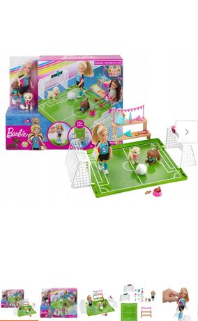 Lalka barbie Chelsea  na boisku