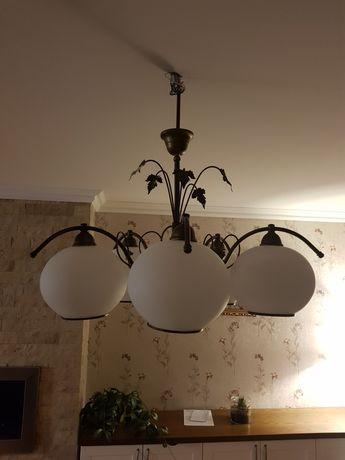 Lampa Wewnętrzna Żyrandol Kinkiet Komplet do Salonu