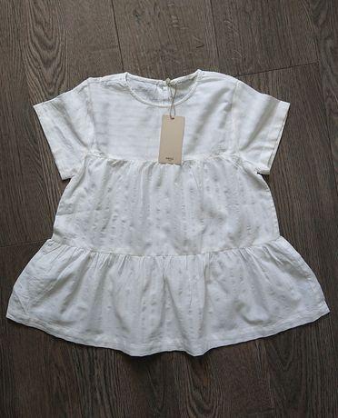 Nowa z metką mango bluzka bawełniana koszula boho tunika r. 134