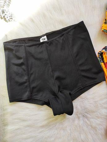 Черные высокие купальные трусы шорты плавки высокая талия посадка женс