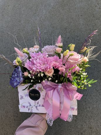 Квіти в коробках ,букети ,подарки.декор.