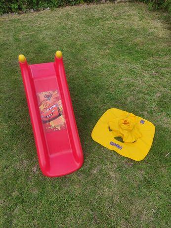 Zjeżdżalnia Smoby gratis fotel dmuchany dla niemowlaka