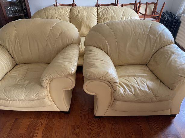 Sofa kompet eco skora krem salon