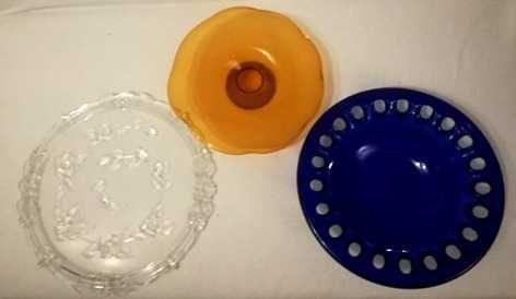 patery szklane na ciasto lub owoce