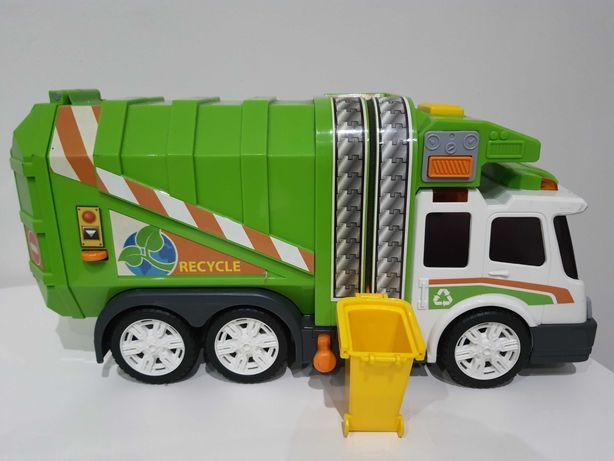 Samochód - śmieciarka z koszem