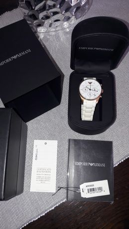 zegarek emporio armani pozłacany