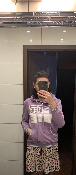 Bluza z kapturem liliowa rozm 36 S Piekary Śląskie - image 1