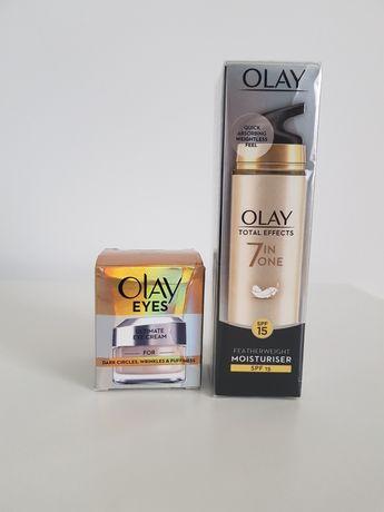 OLAY TOTAL EFFECTS 7in1 krem SPF 15 na dzien i krem pod oczy
