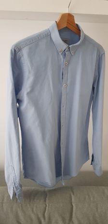 Koszula błękitna Zara S slim