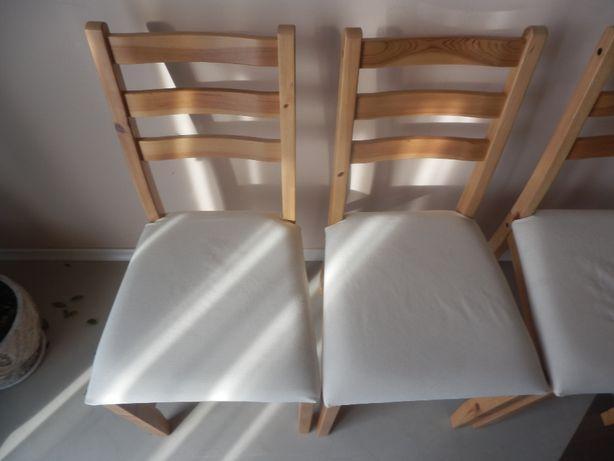 Krzesła 6 sztuk LERHAMN Super stan z pokrowcami