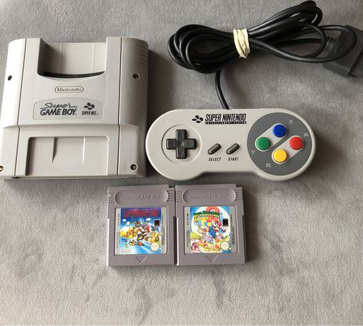 Adapter,Pad SNES + 2 Gry Mario Land Game Boy