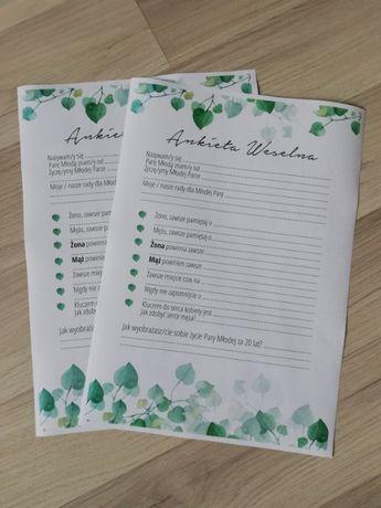 Księga gości - ankieta weselna
