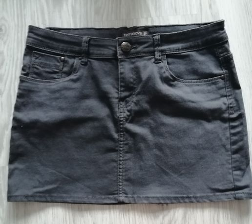 Mini spódniczka szary jeans