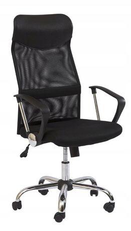 Fotel obrotowy biurowy SIGNAL Q-025 czarny - NOWY