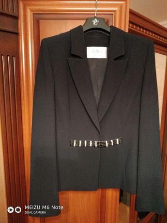 женский костюм пиджак юбка  темно синего цвета оstin h&m