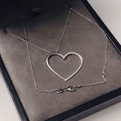 Колье сердце на цепочке CRIVELLI Оригинал. Бриллианты 750