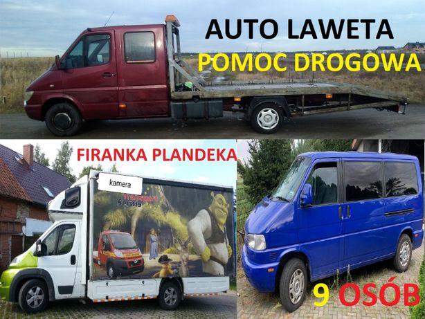 Transport pojazdów, Pomoc Drogowa, Wynajem Lawet Auto-lawet,BUS 9-os