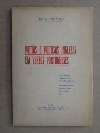 Poetas e Poetisas Inglesas em Versos Portugueses de José A. Fernandes