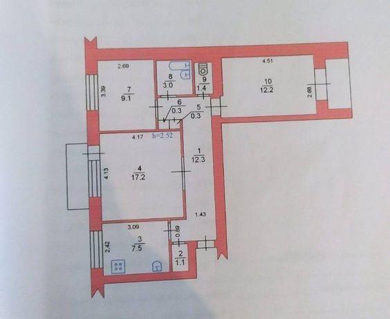 Продам трёх комнатную квартиру в центре города Черноморск.