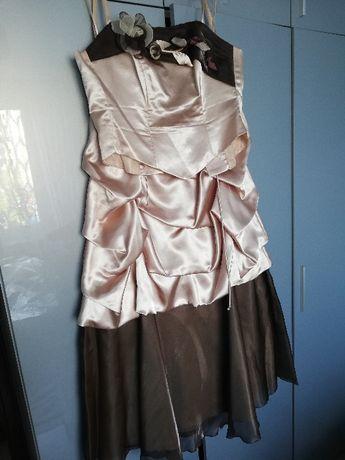 Dwuczęściowa sukienka na wesele