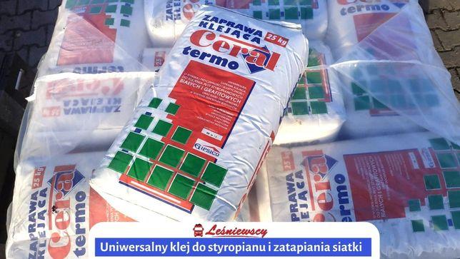 KLEJ DO STYROPIANU grafitowego i siatki 2w1 25kg transport cały kraj