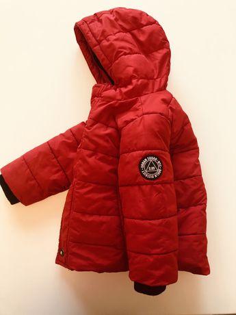 Reserved czerwona zimowa kurtka dla chlopca 86