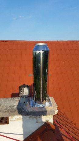 wkłady kominowe kominy, frezowanie, rozwiercanie, kominiarz
