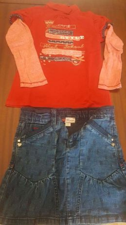 Conjunto saia e Sweat Chicco