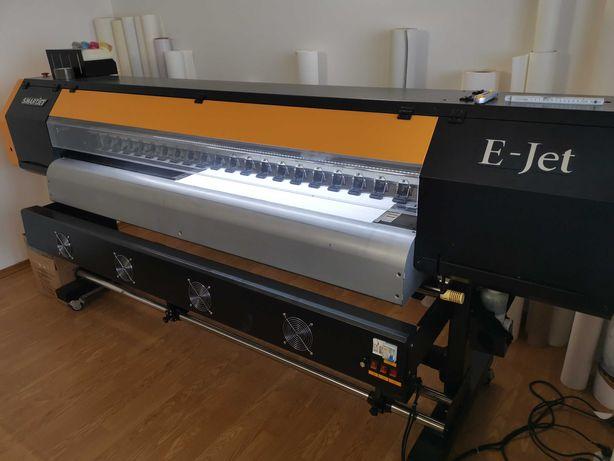 Ploter drukujący Eko Solwentowy E-Jet 1825 dwugłowicowy 180cm zadruku