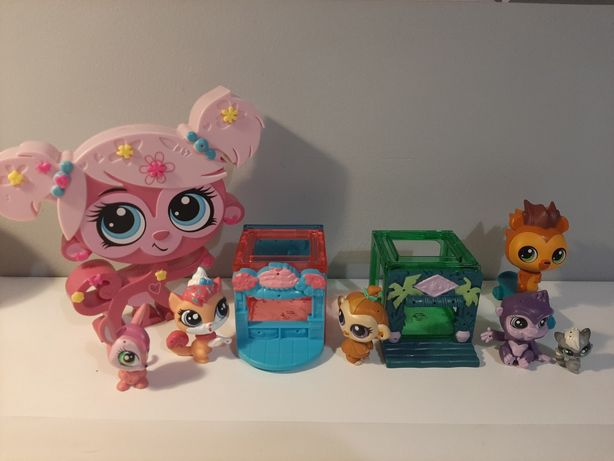 Zestaw Littlest Petshop figurki+domki, pudełko petshop