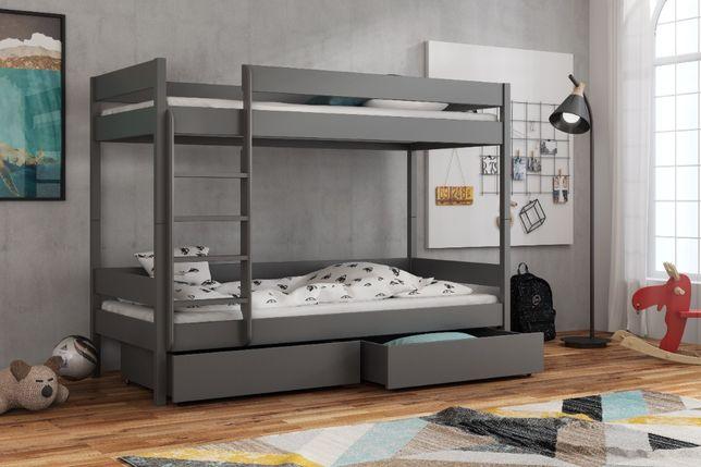 Łóżko dla 2 dzieci! Wersja piętrowa! Materace gratis! model BARTUS