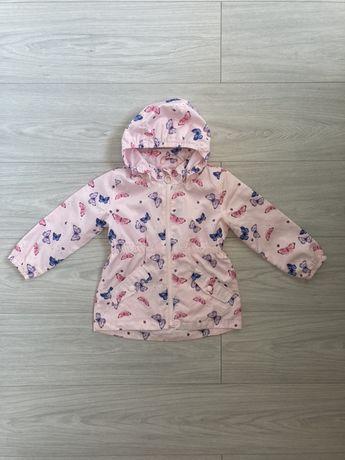 Różowa kurtka w motylki H&M 98