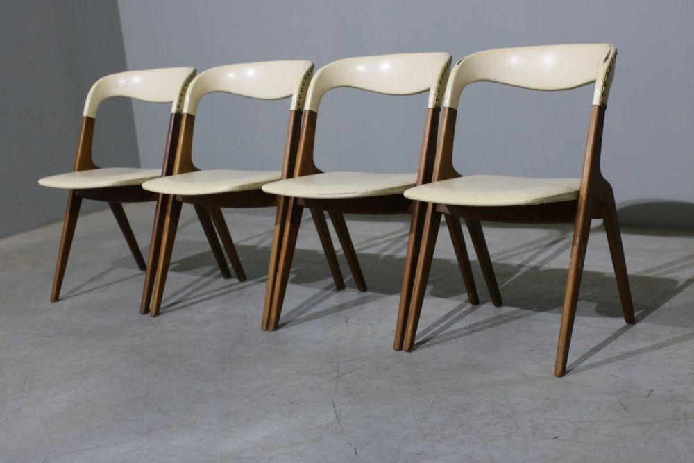 Conjunto 4 cadeiras Johannes Andersen em teca