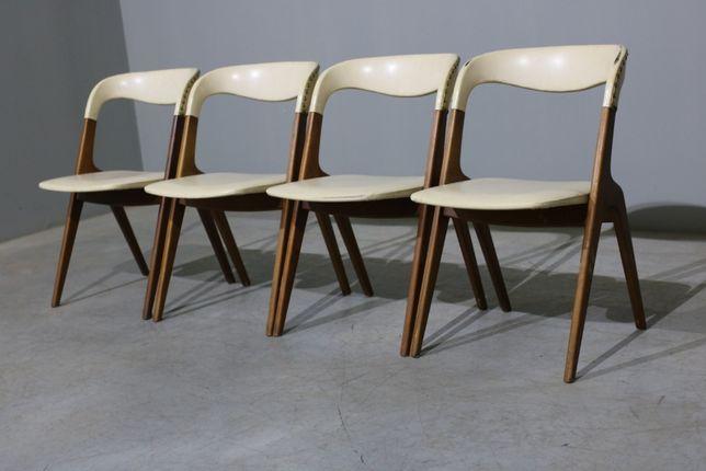 Conjunto 4 cadeiras Johannes Andersen em teca| Mobiliário Vintage