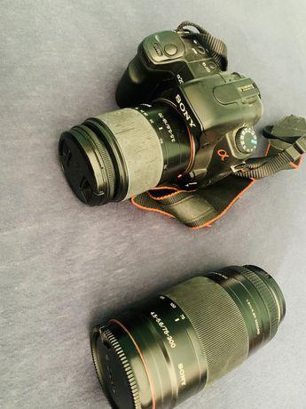 Aparat Sony alpha A200 + obiektyw + plecak