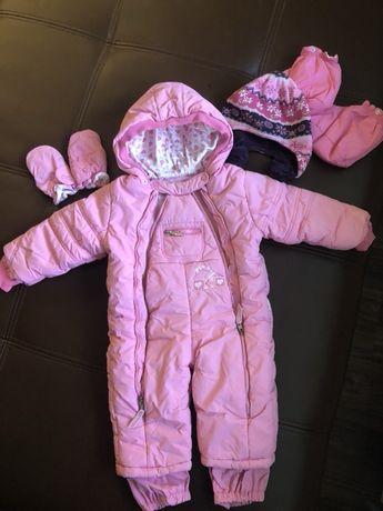 комбинезон зимний с шапочкой ,набор детской одежды