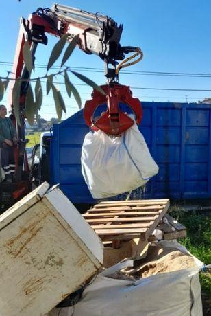 Recolha e transporte de BIG BAGS de entulho de obras e resíduos urbano