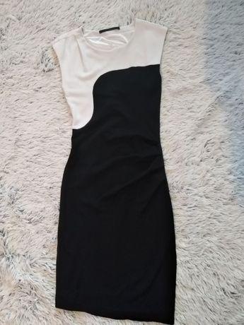 Sukienka czarno-biala 40/42 wesele urodziny