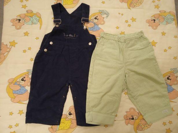 zestaw spodni dla chłopczyka 6-9mcy, rozm.74