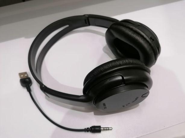 Słuchawki bezprzewodowe z radiem i czytnikiem kart pamięci Micro SD