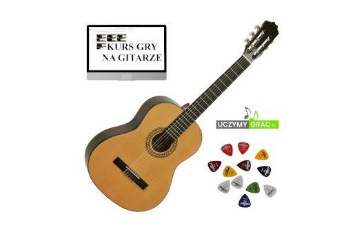 Gitara klasyczna EVER PLAY TAIKI TC-901 + kurs + piórka+DarmowaWysyłka
