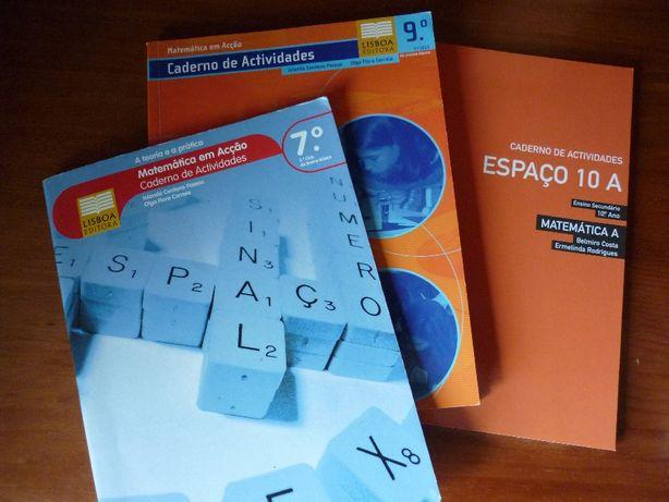 Cadernos de atividades de matemática e matemática A