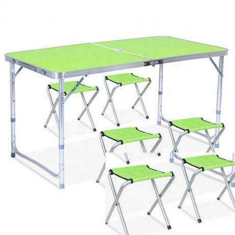 Стол складной туристический для пикника + 4 стула.