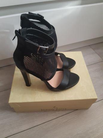 Sandały czarne rozmiar 37