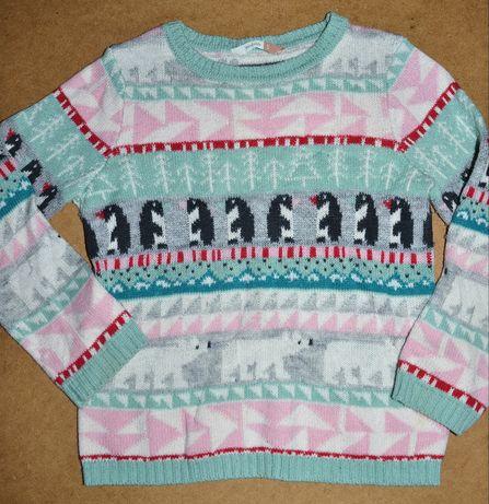 625^ levis Świąteczny sweter wzorki 5L_110 cm