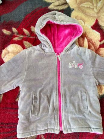 Прекрасная двухсторонняя теплая куртка на девочек от ТМ Соня 92-98 р.