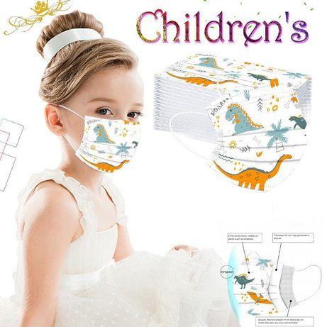 Máscaras de crianças - desenhos animados dinossauros - 50 unidades