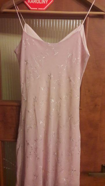 Elegancka sukienka z haftami. LOVIE r. 36