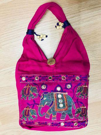 Сумка девочке торба Индия коттон вышивка слоны