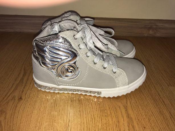 Szaro srebrne buty